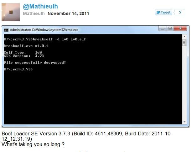 Срочно в номер: Mathieulh расшифровал LV0 прошивки 3.73