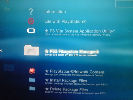 XMB Integrated File Manager Beta v0.06c - (WIP / POC)