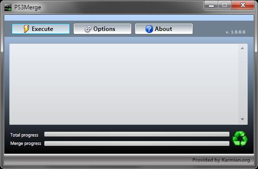 PS3Merge v1.0.0.0: объединяем разбитые файлы для PS3