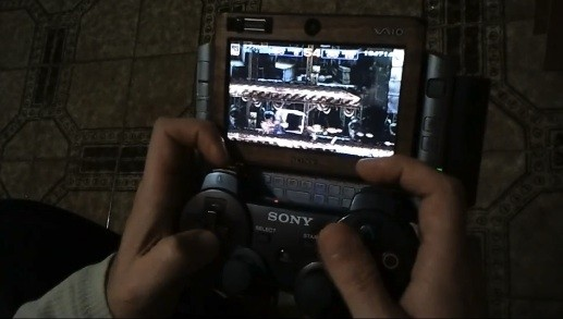 Modder attaches PS3 controller to VAIO UX UMPC – Forgoes PlayStation certification