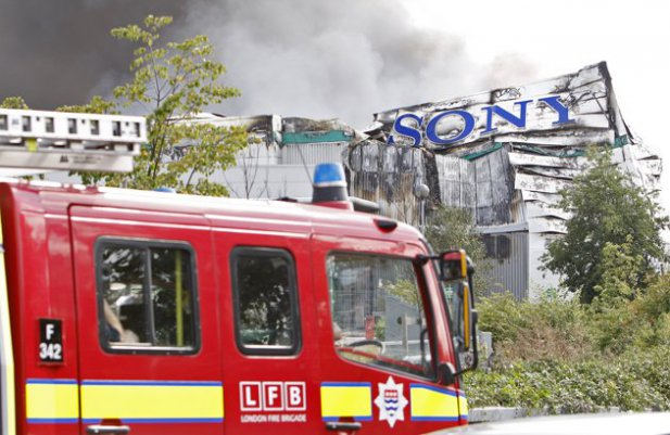 Sony distribution center in London set on fire