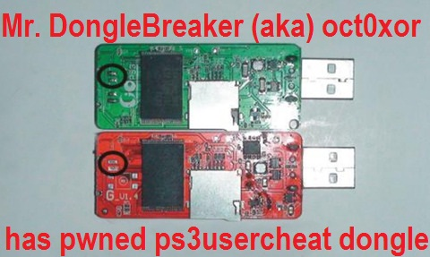 Mr. DongleBreaker (aka) oct0xor has pwned 'ps3usercheat' device