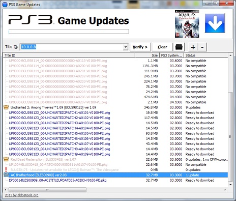 PS3 Game Updates v1.04 - Game Update Downloaded