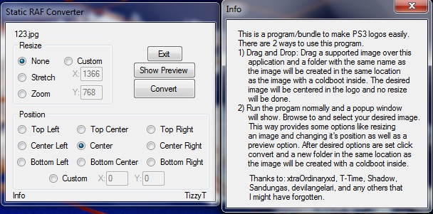 TizzyT's Easy Static Raf Converter Version 1.0a