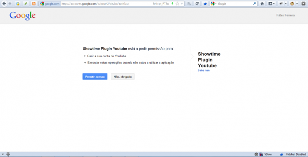 TUTORIAL – Log In to Showtime Plugin Youtube 1.5 with OAuth2
