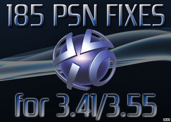 PS3 PSN 3.41/3.55 Fixes - 185 And Counting!