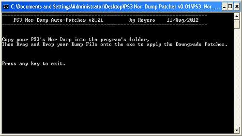 Rogero Releases PS3 Nor Dump Auto-Patcher v0.01