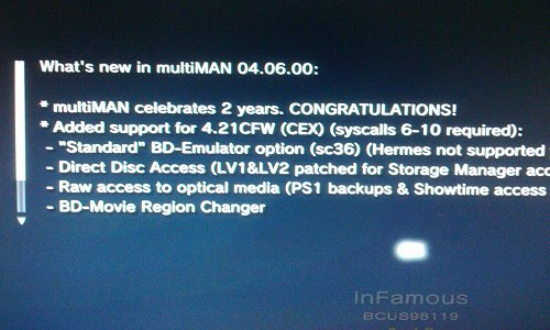 MultiMAN/mmCM v04.06.00 is Released, Adds Support for PS3 4.21 CFW