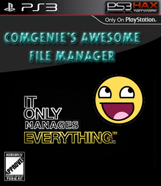 Comgenie's Awesome Filemanager For 4.21 CFW