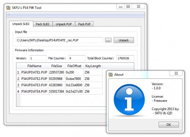 PS4 FW Tool 1.0.0 - от SKFU