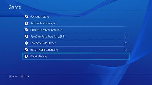 Включаем Debug меню на PS4 с OFW 1.76