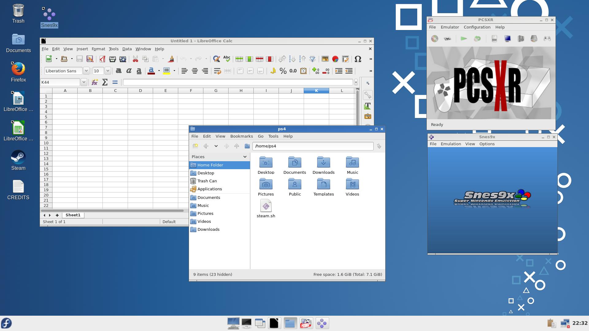 Дистрибутив Linux для PS4 со Steam-ом, офисом и эмуляторами