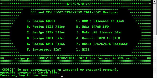 E/S/S/S/E Resigner v4.5.4