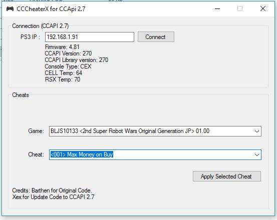CCCheaterX [Неофициальное обновление CCCheater] с поддержкой CFW 4.81