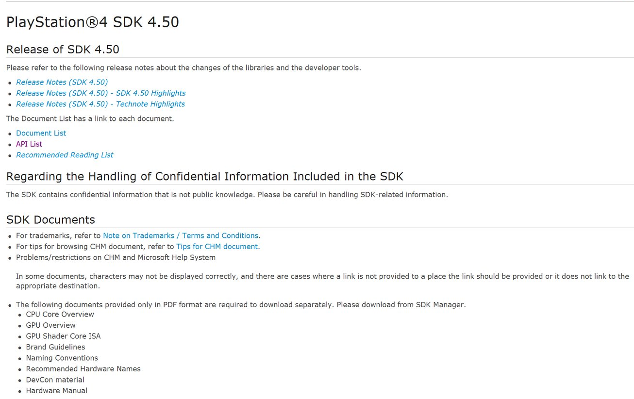 PlayStation 4 SDK 4.50 Leaked by KromeMods