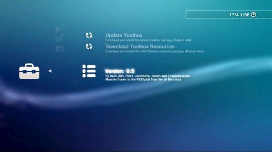 HAN Toolbox v0.5 для PS3