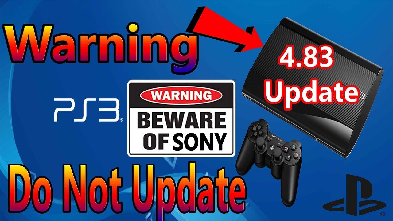 Вышла официальная прошивка 4.83 для PS3 - не обновляйтесь!